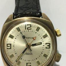 Relojes de pulsera: RELOJ SYSTEM ALARM CARGA MANUAL CAJA CAHAPADO MAQUINARIA 18 JEWELS MUY RARO ESPECIAL. Lote 187214201