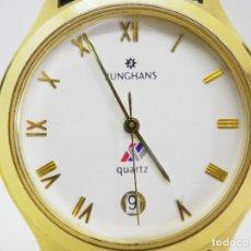 Relojes de pulsera: CLASICO Y BONITO JUNGHANS AÑOS 90` WR 30M FUNCIONA PERFECTAMENTE LOTE WATCHES. Lote 187523970