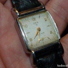 Relojes de pulsera: BELLO RELOJ ORIS CABALLERO TIPO TANK CARGA MANUAL CALIBRE 471 ART DECO AÑOS 40 SWISS MADE RARO. Lote 187524176