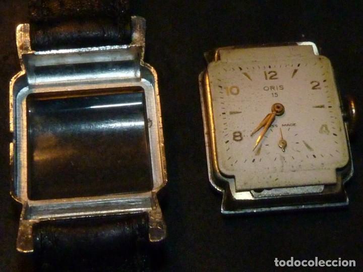 Relojes de pulsera: BELLO RELOJ ORIS CABALLERO TIPO TANK CARGA MANUAL CALIBRE 471 ART DECO AÑOS 40 SWISS MADE RARO - Foto 4 - 187524176
