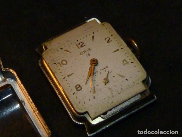Relojes de pulsera: BELLO RELOJ ORIS CABALLERO TIPO TANK CARGA MANUAL CALIBRE 471 ART DECO AÑOS 40 SWISS MADE RARO - Foto 5 - 187524176