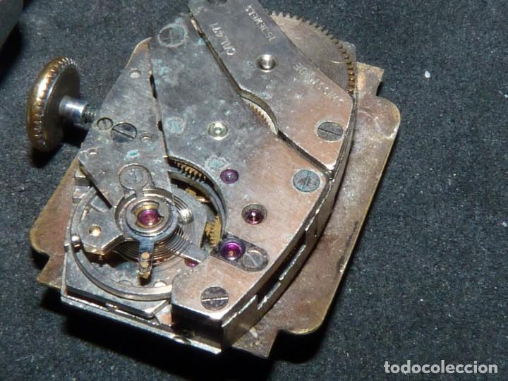 Relojes de pulsera: BELLO RELOJ ORIS CABALLERO TIPO TANK CARGA MANUAL CALIBRE 471 ART DECO AÑOS 40 SWISS MADE RARO - Foto 6 - 187524176