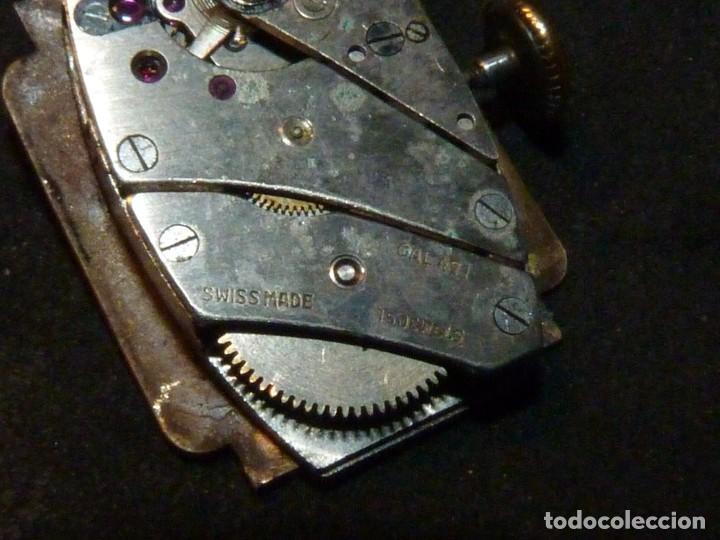 Relojes de pulsera: BELLO RELOJ ORIS CABALLERO TIPO TANK CARGA MANUAL CALIBRE 471 ART DECO AÑOS 40 SWISS MADE RARO - Foto 7 - 187524176