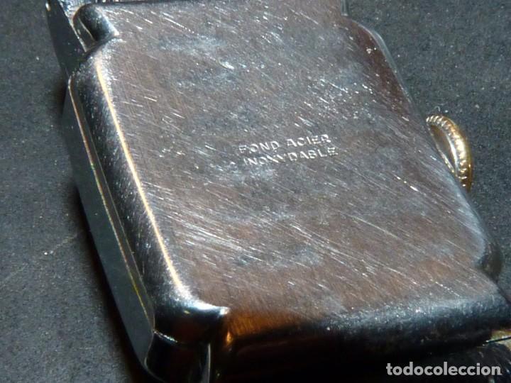 Relojes de pulsera: BELLO RELOJ ORIS CABALLERO TIPO TANK CARGA MANUAL CALIBRE 471 ART DECO AÑOS 40 SWISS MADE RARO - Foto 8 - 187524176