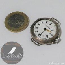 Relojes de pulsera: ANTIGUO RELOJ DE PULSERA EN PLATA CONTRASTADA ESFERA PORCELANA, S XIX - XX (FUNCIONANDO), QTE BOUTTE. Lote 187541720