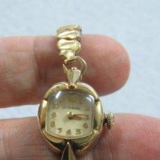 Relojes de pulsera: BONITO RELOJ DE CUERDA MANUAL DE LA MARCA WITTNAUER-LONGINES, FUNCIONA, CHAPADO EN ORO, AÑOS 30. Lote 187572722