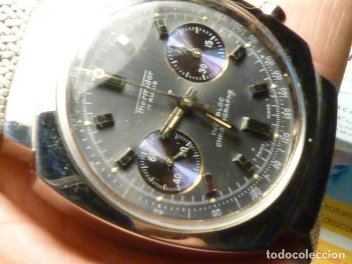 Relojes de pulsera: ESCASO RELOJ THERMIDOR CRONOMETRO VALJOUX 7733 SWISS MADE CRONOGRAFO ACERO 17 RUBIS RARO - Foto 10 - 245000300