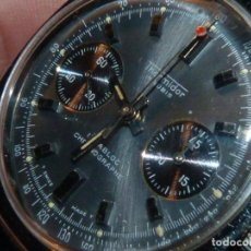 Relojes de pulsera: ESCASO RELOJ THERMIDOR CRONOMETRO VALJOUX 7733 SWISS MADE CRONOGRAFO ACERO 17 RUBIS RARO. Lote 245000300
