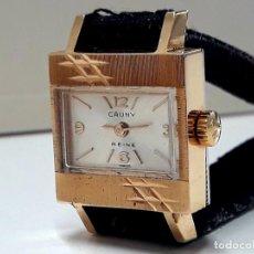 Relógios de pulso: CURIOSO RELOJ VINTAGE DE SEÑORA CAUNY PRIMA REINE AÑOS 50 DE PLAQUÉ ORO CARGA MANUAL Y NUEVO. Lote 189423783