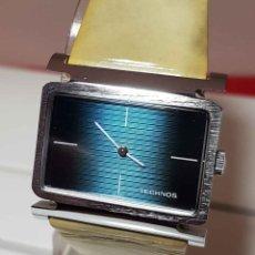 Relojes de pulsera: RELOJ TECHNOS DE CUERDA, SWISS MADE, VINTAGE, NOS (NEW OLD STOCK). Lote 189493298