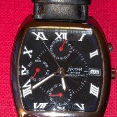 Relojes de pulsera: PRECIOSO RELOJ DE CUARZO NICOLET. FUNCIONA. Lote 189757486