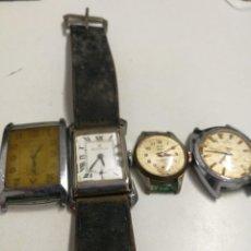 Relojes de pulsera: CUATRO RELOJES ENTRE LOS AÑOS 30 Y 70 CABALLERO Y DAMA. Lote 189831346