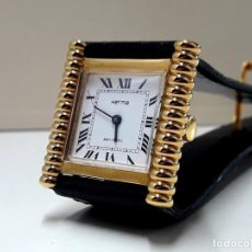 Relojes de pulsera: PRECIOSO RELOJ VINTAGE DE SEÑORA MARCA HERMA CHAPADO EN ORO DE CARGA MANUAL Y NUEVO. Lote 190151338