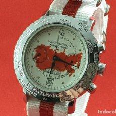 Relojes de pulsera: RELOJ CRONÓGRAFO MECANICO RUSO POLJOT AÑO 2004 PARA LOS 100 AÑOS DEL TRANSIBERIANO. Lote 190408210