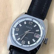 Relojes de pulsera: RELOJ YOGY CARGA MANUAL CALENDARIO COMO NUEVO •*•. Lote 190453548