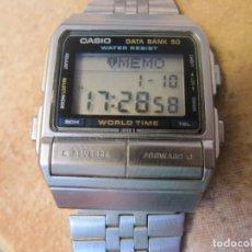 Relojes de pulsera: RELOJ VINTAGE CASIO DATA BANK 50 MODELO DB-520 CON FUNCIÓN TELEMEMO AGENDA DE NOTA. Lote 190481147