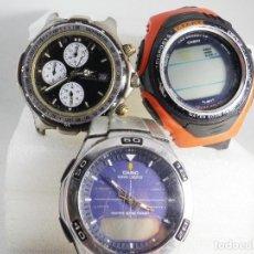 Relógios de pulso: 3 BUENOS RELOJES NO TESTADOS PARA RESTAURAR O PIEZAS HAY 1 CRONO LOTE WATCHES. Lote 190509673