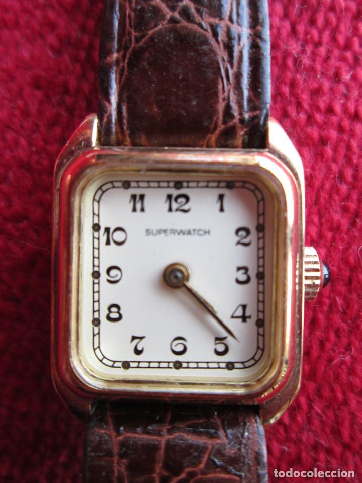 Relojes de pulsera: RELOJ DE PULSERA SUPERWACH CARGA MANUAL - FUNCIONANDO - - Foto 3 - 190815671