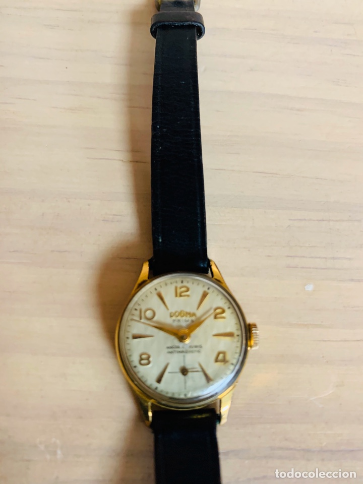 Relojes de pulsera: ANTIGUO RELOJ DE SEÑORA DOGMA PRIMA AUTOMAGNETIC CHAPADO EN ORO - Foto 2 - 190817018