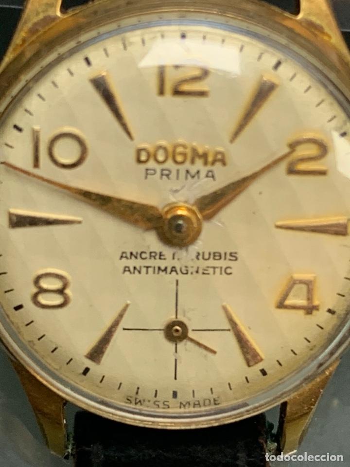 Relojes de pulsera: ANTIGUO RELOJ DE SEÑORA DOGMA PRIMA AUTOMAGNETIC CHAPADO EN ORO - Foto 6 - 190817018