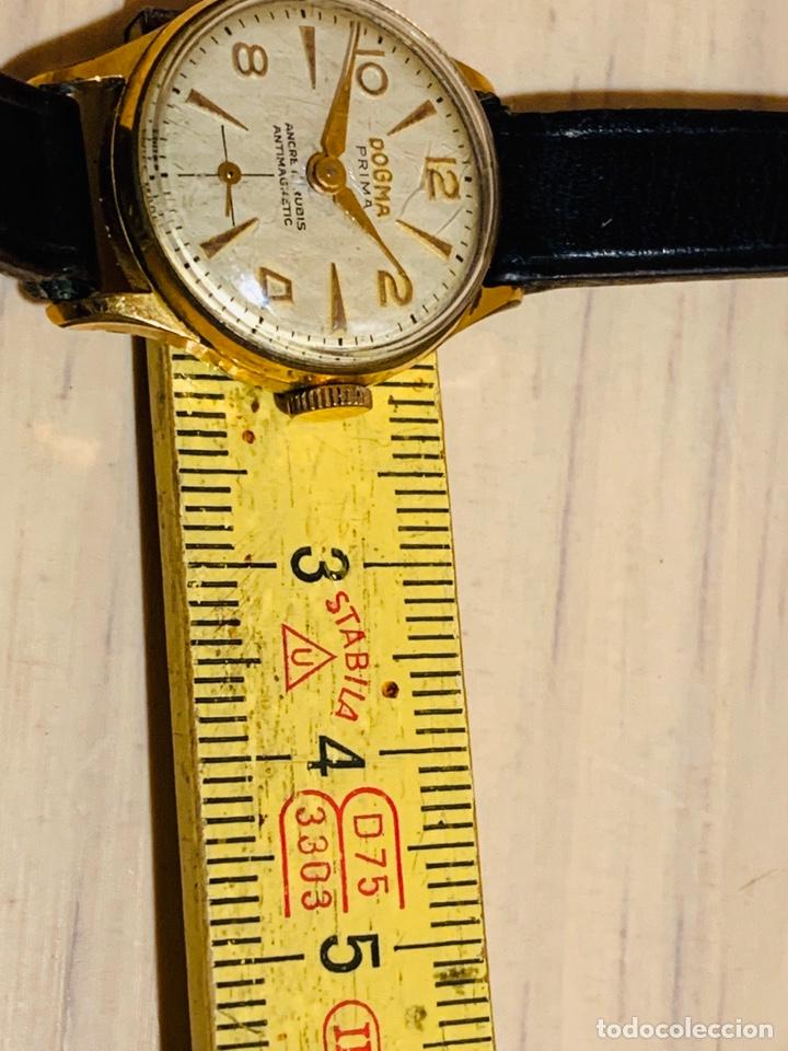 Relojes de pulsera: ANTIGUO RELOJ DE SEÑORA DOGMA PRIMA AUTOMAGNETIC CHAPADO EN ORO - Foto 7 - 190817018