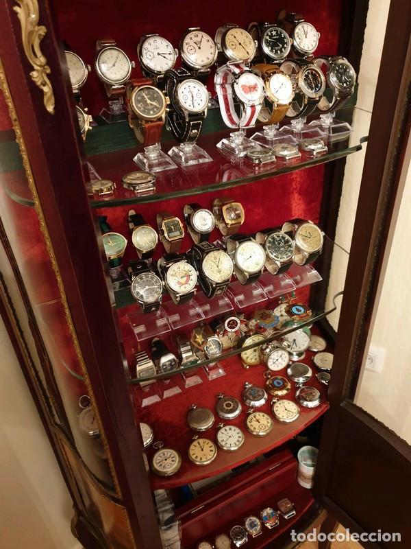 Relojes de pulsera: Reloj cronógrafo mecanico militar ruso POLJOT Buran ( Буран) de 1986 - Foto 44 - 184086755