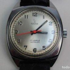 Relojes de pulsera: RE-12. RELOJ PULSERA HELVA 17 JEWELS INCABLOC. AÑOS 70. . Lote 191179430