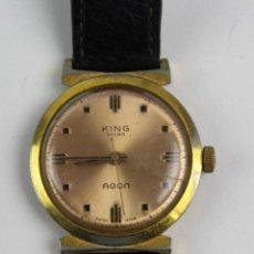 Relojes de pulsera: RE-16. RELOJ DE PULSERA HOMBRE KING, AGON. AÑOS 60.. Lote 191185580