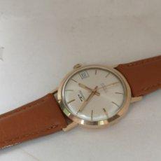 Relojes de pulsera: ANTIGUO Y HERMOSO RELOJ DE ORO DE 18K TECHNOS A CUERDA. Lote 191314572