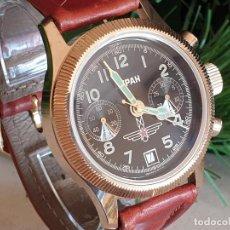 Relojes de pulsera: RELOJ CRONÓGRAFO MILITAR RUSO POLJOT BURAN ( БУРАН) DE 1988 , PERFECTO ESTADO. Lote 191596366