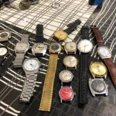 Relojes de pulsera: LOTE DE 15 RELOJES ANTIGUOS. Lote 191744343
