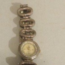 Relojes de pulsera: RELOJ DE SEÑORA DE PULSERA MARCA NOVASTAR CON PIEDRAS BLANCAS REF 0006. Lote 191751312
