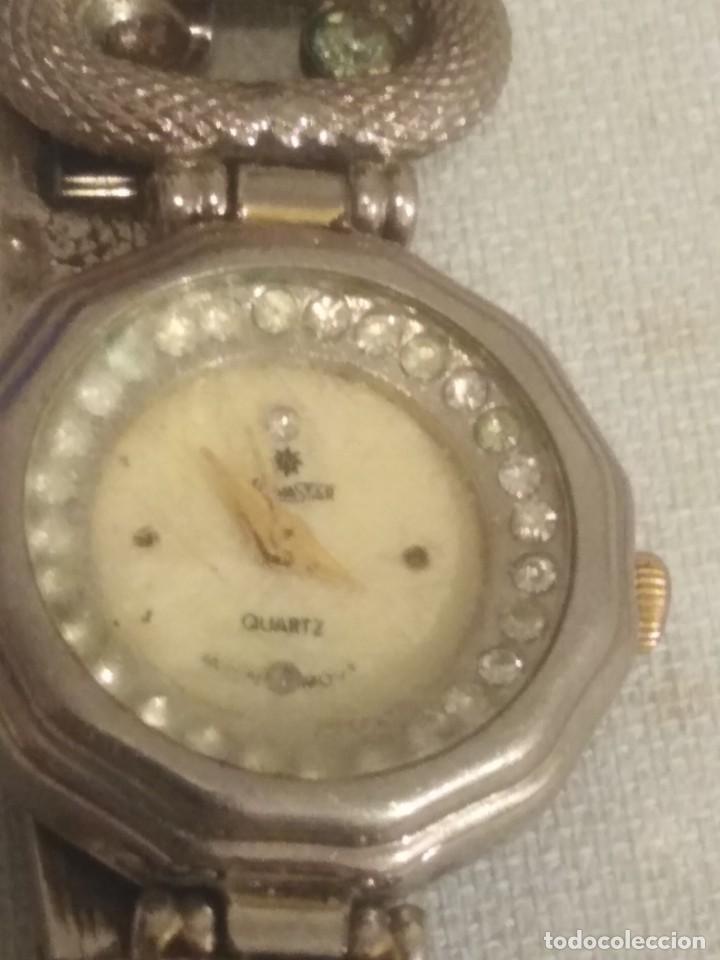 Relojes de pulsera: Reloj de señora de pulsera marca novastar con piedras blancas ref 0006 - Foto 2 - 191751312