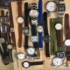 Relojes de pulsera: LOTE RELOJES ANTIGUOS FUNCIONAN. Lote 191773186