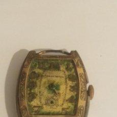 Relojes de pulsera: RELOJ DE SEÑORA DE PULSERA BAÑADO EN ORO REF 0124. Lote 191985033