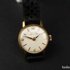 Relojes de pulsera: ANTIGUO RELOJ DE CUERDA DE MUJER SUIZO ALVICH 15 RUBIS. Lote 193958058