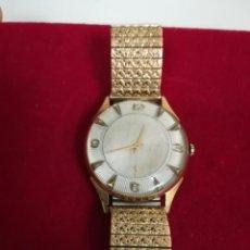 Relojes de pulsera: PRECIOSO Y RARO RELOJ BAÑADO ORO 10 MICRAS GRAN TAMAÑO. Lote 193979700