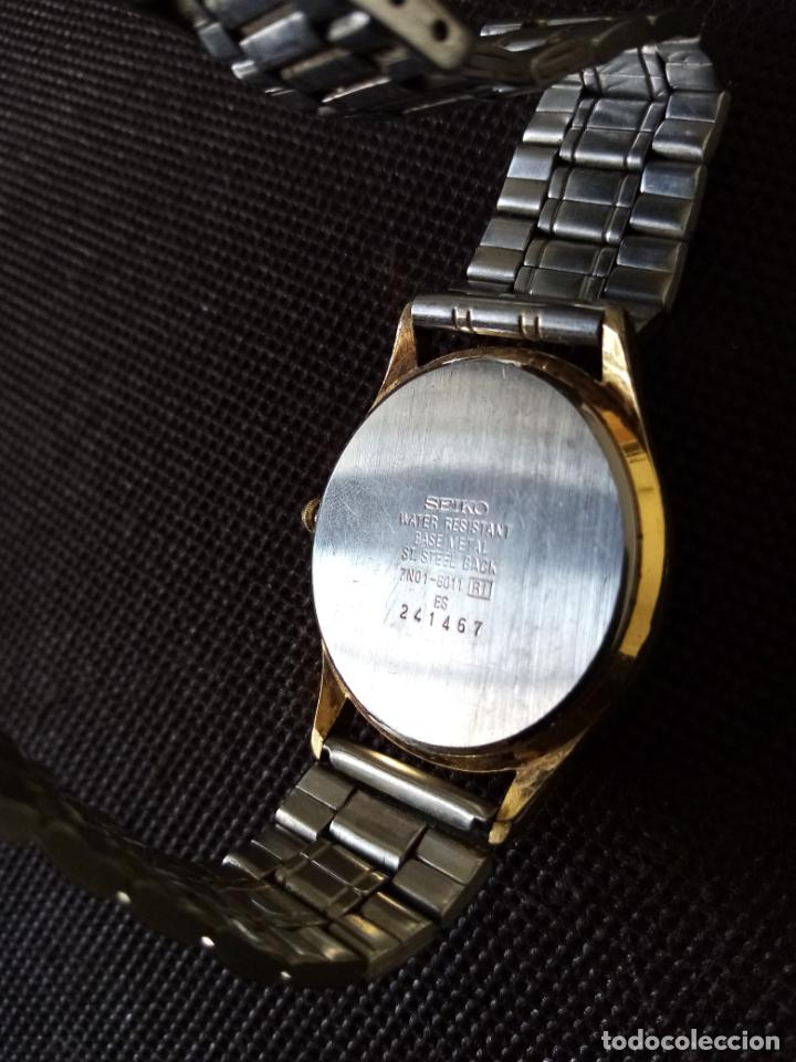 Relojes de pulsera: RELOJ DE PULSERA SEIKO QUARZO PARA HOMBRE EN FUNCIONAMIENTO - Foto 3 - 194212760