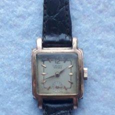 Relojes de pulsera: RELOJ MARCA CAUNY. CLÁSICO DE DAMA. CHAPADO EN ORO 20 MICRAS.. Lote 194323947