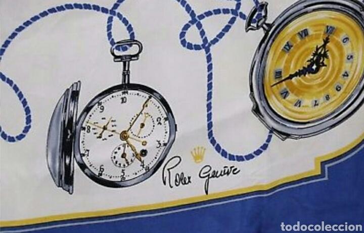 Relojes de pulsera: PRECIOSO PAÑUELO 100% SEDA ROLEX GENEVE MOTIVO RELOJES BOLSILLO AAA - Foto 3 - 194335026