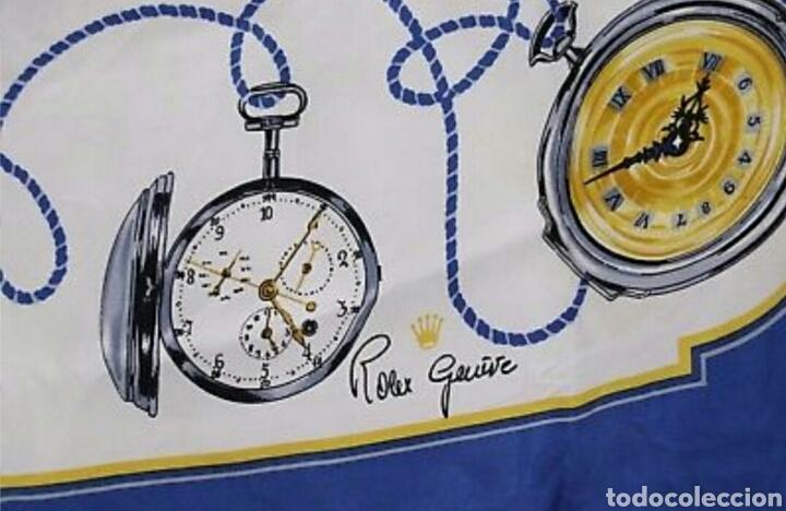Relojes de pulsera: PRECIOSO PAÑUELO 100% SEDA ROLEX GENEVE MOTIVO RELOJES BOLSILLO AAA - Foto 6 - 194335026