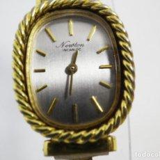Relojes de pulsera: ANTIGUO ORIGINAL NEWTON DAMA MECANICO AÑOS 70 BUEN ESTADO FUNCIONA LOTE WATCHES. Lote 194337593