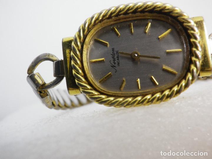 Relojes de pulsera: ANTIGUO ORIGINAL NEWTON DAMA MECANICO AÑOS 70 BUEN ESTADO FUNCIONA LOTE WATCHES - Foto 2 - 194337593