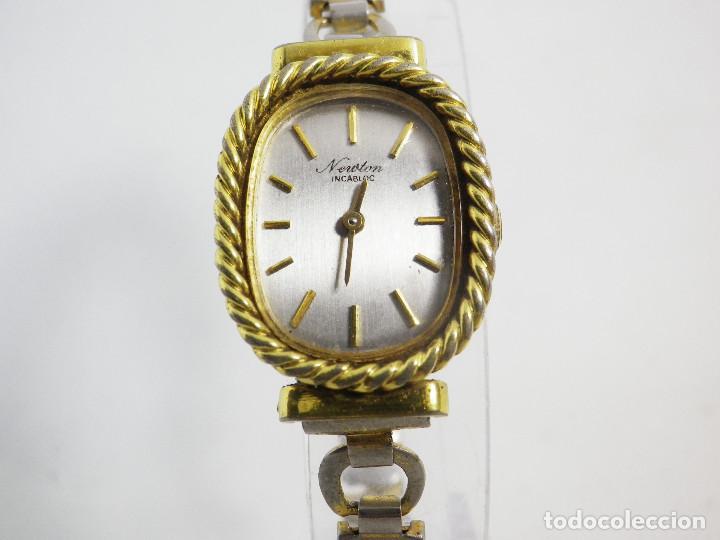 Relojes de pulsera: ANTIGUO ORIGINAL NEWTON DAMA MECANICO AÑOS 70 BUEN ESTADO FUNCIONA LOTE WATCHES - Foto 4 - 194337593
