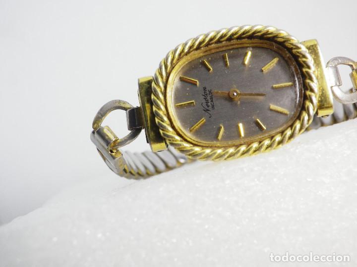 Relojes de pulsera: ANTIGUO ORIGINAL NEWTON DAMA MECANICO AÑOS 70 BUEN ESTADO FUNCIONA LOTE WATCHES - Foto 5 - 194337593