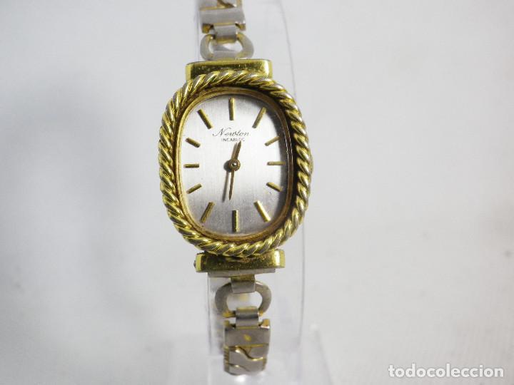 Relojes de pulsera: ANTIGUO ORIGINAL NEWTON DAMA MECANICO AÑOS 70 BUEN ESTADO FUNCIONA LOTE WATCHES - Foto 6 - 194337593