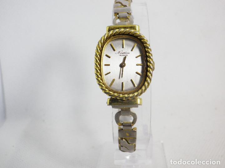 Relojes de pulsera: ANTIGUO ORIGINAL NEWTON DAMA MECANICO AÑOS 70 BUEN ESTADO FUNCIONA LOTE WATCHES - Foto 8 - 194337593