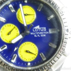 Relojes de pulsera: ANTIGUO Y DEPORTIVO LOTUS CABALLERO TRIPLE CALENDARIO WR50M AÑOS 90 LOTE WATCHES. Lote 194340603