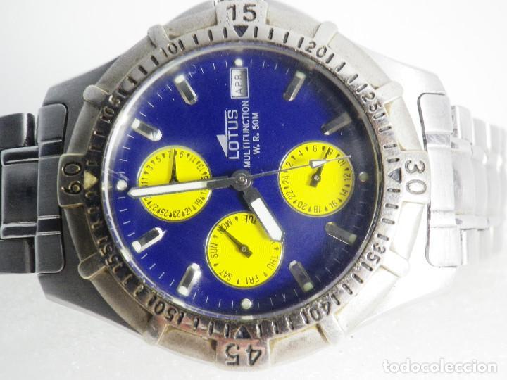 Relojes de pulsera: ANTIGUO Y DEPORTIVO LOTUS CABALLERO TRIPLE CALENDARIO WR50M AÑOS 90 LOTE WATCHES - Foto 2 - 194340603