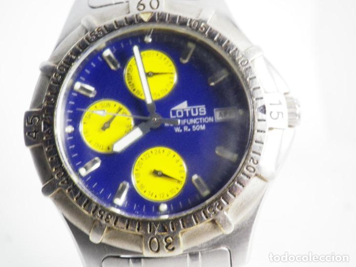 Relojes de pulsera: ANTIGUO Y DEPORTIVO LOTUS CABALLERO TRIPLE CALENDARIO WR50M AÑOS 90 LOTE WATCHES - Foto 3 - 194340603
